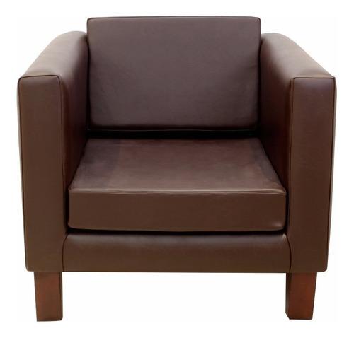 sillon 1 cuerpo ecocuero placa soft forbidan muebles