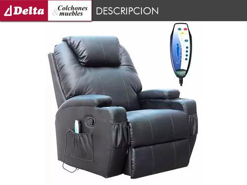 sillon 1 cuerpo reclinable masajeador  poltrona