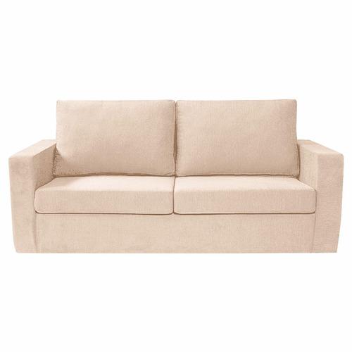 sillón 3 cuerpos chenille beige premium -