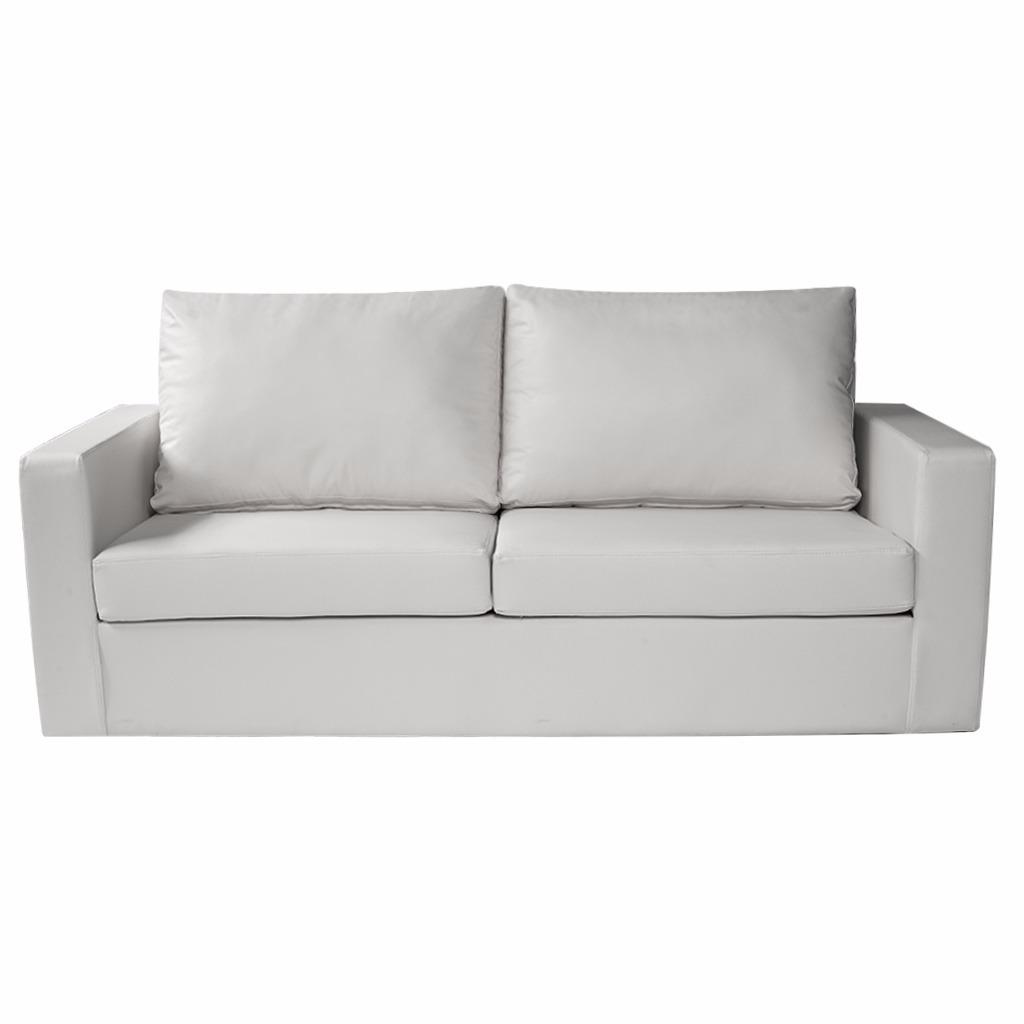 Sill N 3 Cuerpos Ecocuero Blanco Premium Muebles Express  # Muebles Maximo Salta
