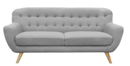 sillon 3 cuerpos gris sofa 3 cuerpos vintage nórdico rosario