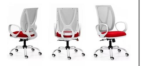 sillón alma profesional blanca cromado mec a-syncro kromo-s