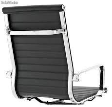 sillon aluminium bajo.cuero negro.gerencial.de oficina.usado