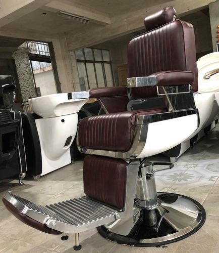 sillón barberia hidráulico reclinable color exclusivo spl