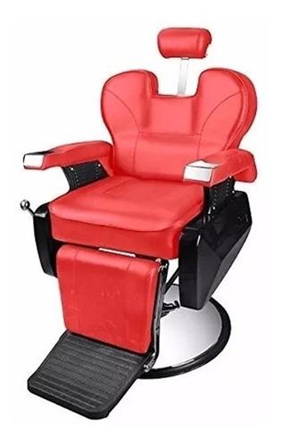 sillón barbero barbería negro o rojo envío gratis