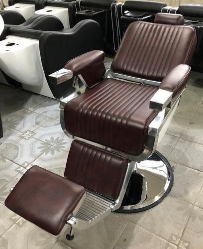 sillón barbero hidráulico reclinable  exclusivo, julio 2019