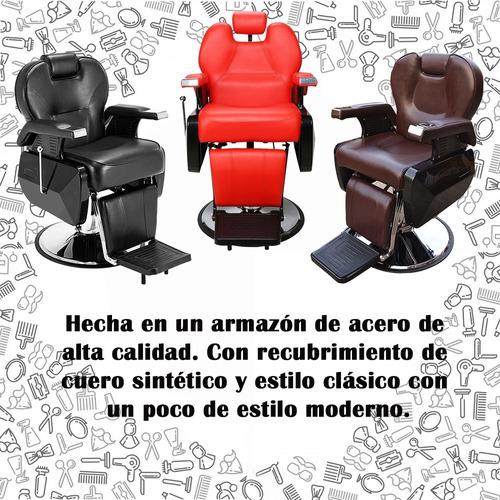 sillon barbero  peluqueria silla barberia estetica rudo