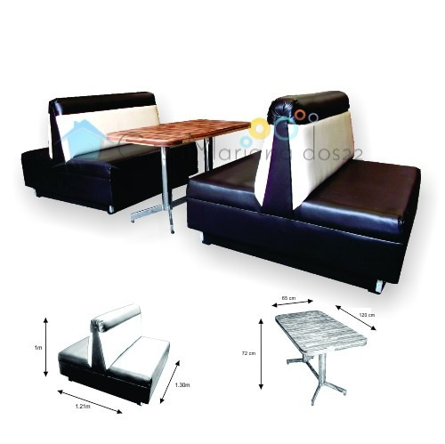 Sillon booth mobiliario para restaurantes cafeterias for Mobiliario bar restaurante