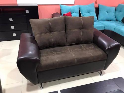 sillón britany 2 plazas varios colores y tapizados sala