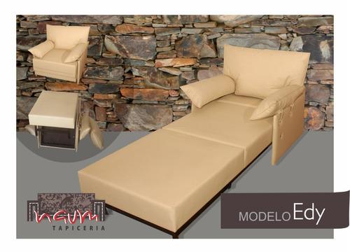 sillon cama 1 plaza - excelente calidad