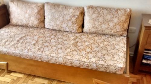 sillón cama antiguo de hierro y madera