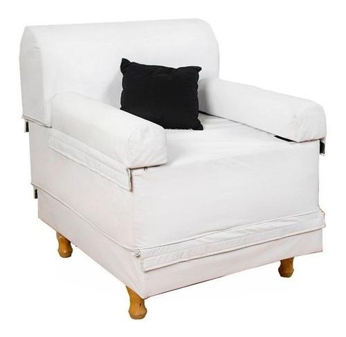 sillón cama cervical new tech arcoiris 1 plaza eco cuero