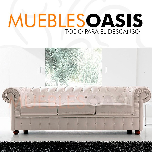 Sillon Cama Chesterfield Original Sofa Living Muebles Oasis ...