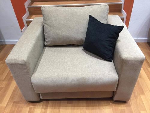 sillón cama de 1 plaza en chenille