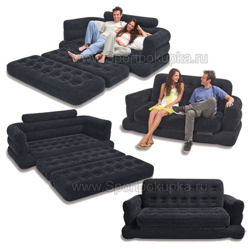 sillon cama de 2 plqazas intex