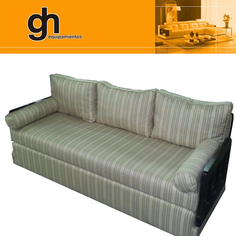 Sillon cama funcional ideal para living peque o 2 plazas for Sillon cama 2 plazas y media