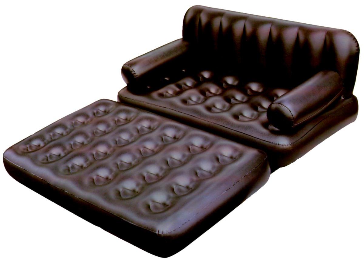 Sillon cama multifuncional inflable 2 plazas color negro for Sillon cama mercado libre