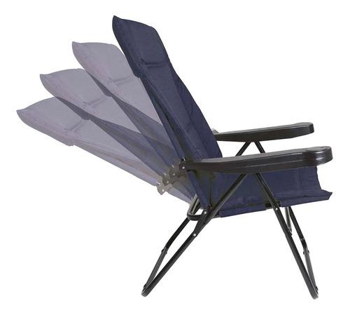 sillon camping alfa acolchado mor reclinable 4 pos. oferta