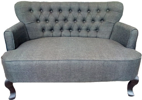 sillón capitonado vintage retro doble v colores envio gratis
