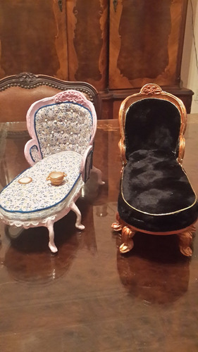 sillon chaise longe,  para para barbie blythe pullip bjd