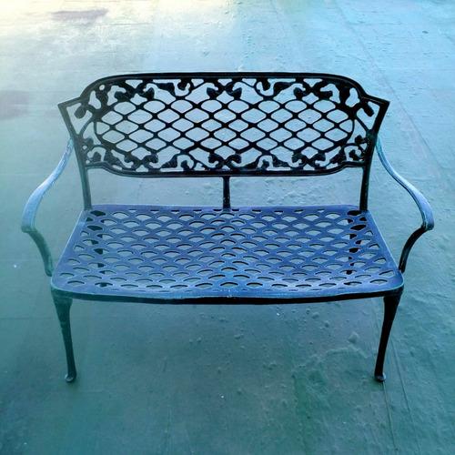 sillón chateau de 2 cuerpos - fundición de aluminio