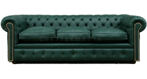 sillon chester sofa chesterfield 3 cuerpos armado artesanal