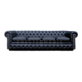Sillon Chesterfield Sofa Chester 4 Cuerpos Cuero Vacuno Real