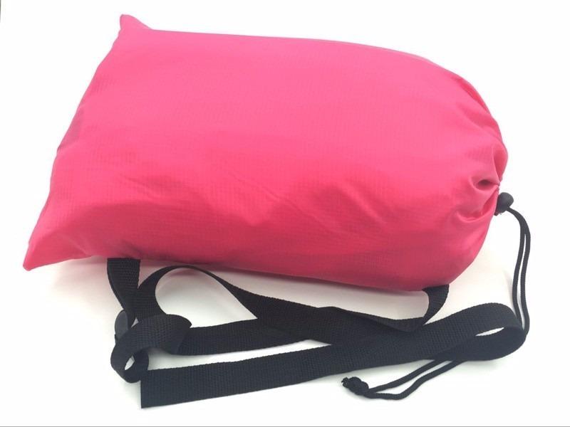 Sillon colchon cama inflable lamzac puff camping playa for Sillon con colchon