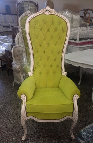 sillon colonial king luis xv-xvi-ingles-frances. a pedido.