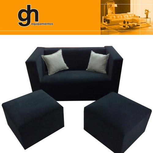 sillón cubo 2 cuerpos,rectos+de 50 colores a elección living