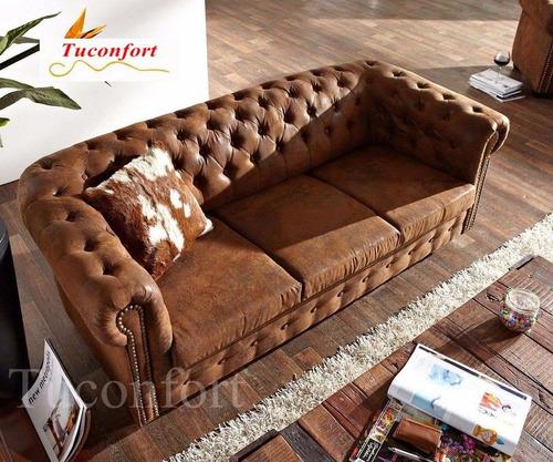 sillon sofa chesterfield 3 cuerpos living oficina estudio en mercado libre. Black Bedroom Furniture Sets. Home Design Ideas