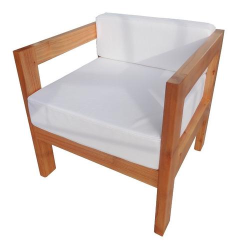 sillón de 1 cuerpo jardín balcon terraza madera exterior