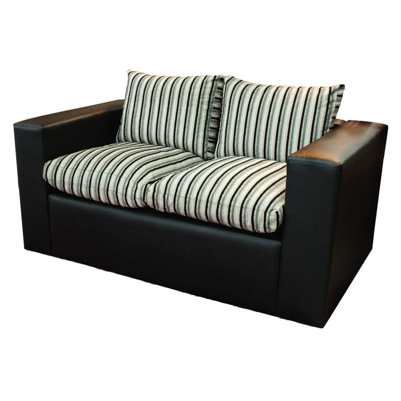 Sillon de 2 cuerpos sofa recto minimalista todos los for Sillones de living