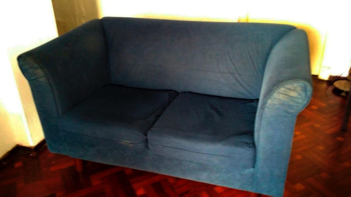Sill N De 2 Cuerpos Tapizado En Microfibra Azul 2 000 00 En  # Muebles Tapizados En Microfibra