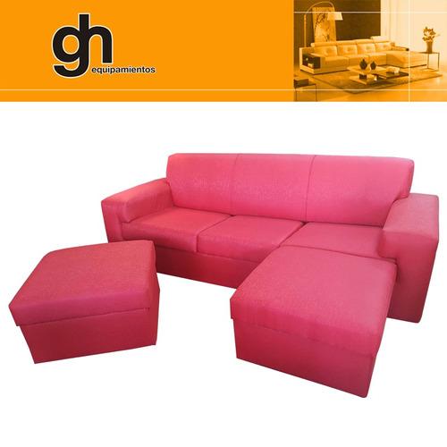 sillón de 3 cuerpos + 2 islas. formando cheiselongue gh