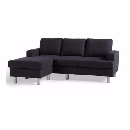sillón de 3 cuerpos con chaise longue living - sofá