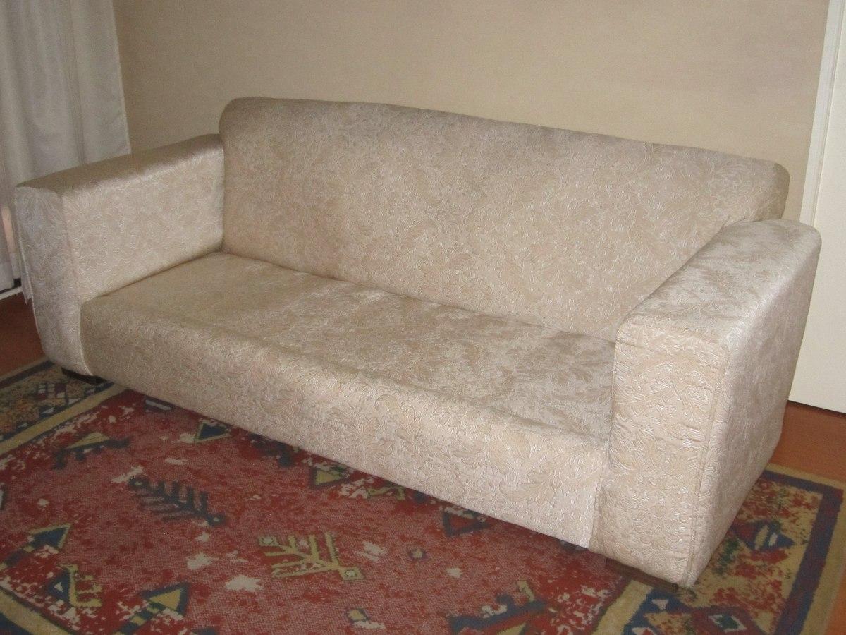 Sill n de 3 cuerpos tela brocato color crudo beige - Cambiar relleno sofa ...