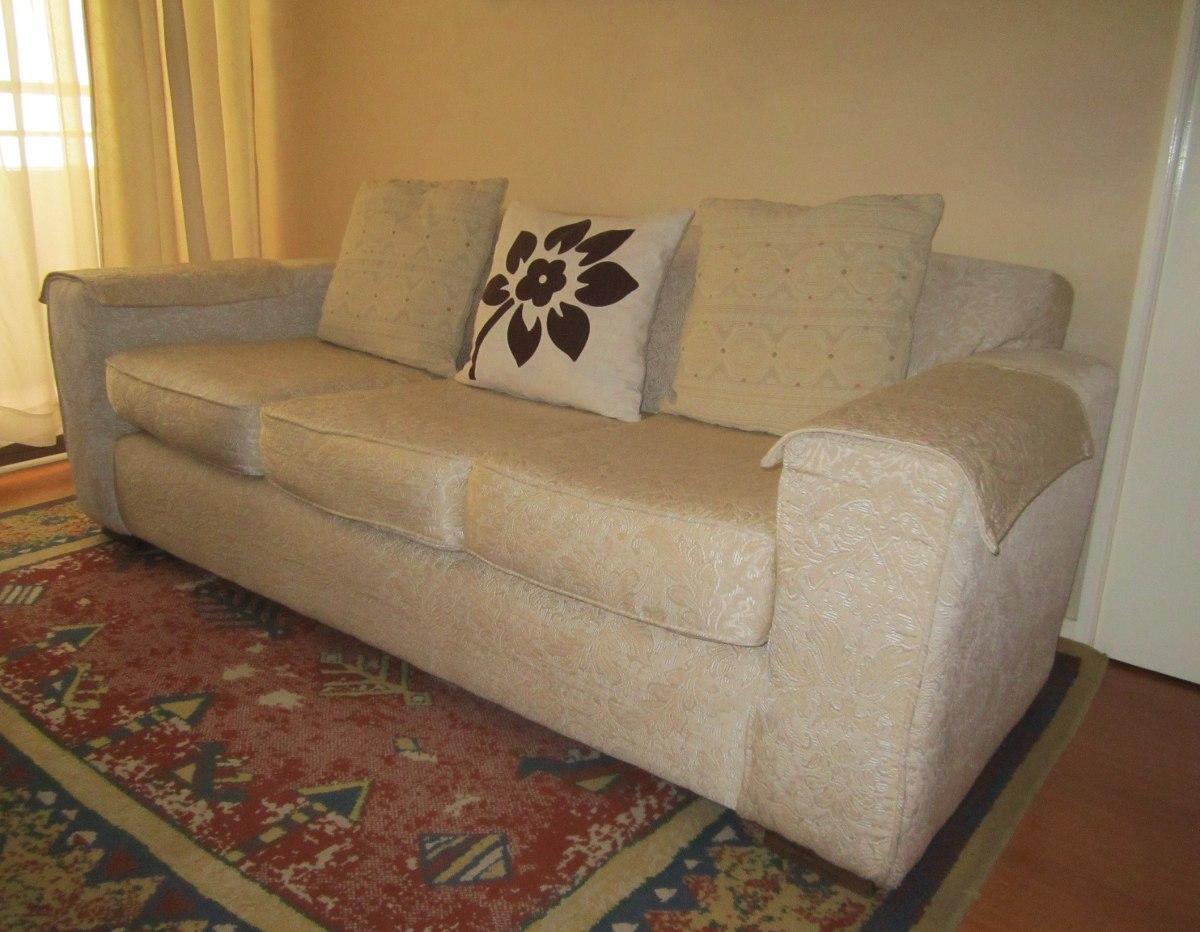 Sill n de 3 cuerpos tela brocato color crudo beige en mercado libre - Telas para tapizados de sofas ...