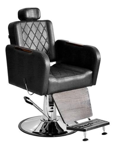 sillón de barbería caravaggio reclinable hidráulico cromado