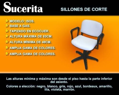 sillón de corte base a gas nuevo con garantía - oferta!!!