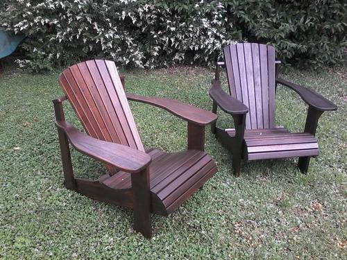 sillón de jardín adirondack