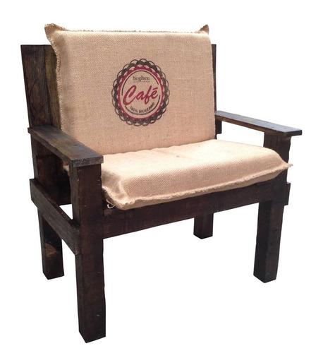 Sill n de madera con coj n 6 en mercado libre - Cojin sillon ...