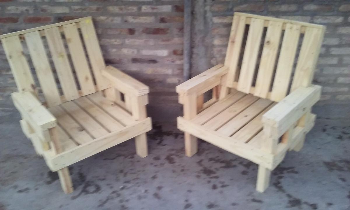Sillon De Madera Reutilizada Individual Ideal Jardin 85000 - Como-hacer-un-sillon-de-madera