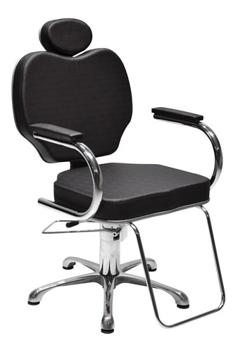 sillón de peluquería gobbi hidráulico reclinable cromado