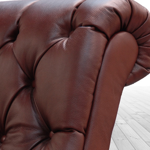 sillón de piel 100% - axel - conforto muebles