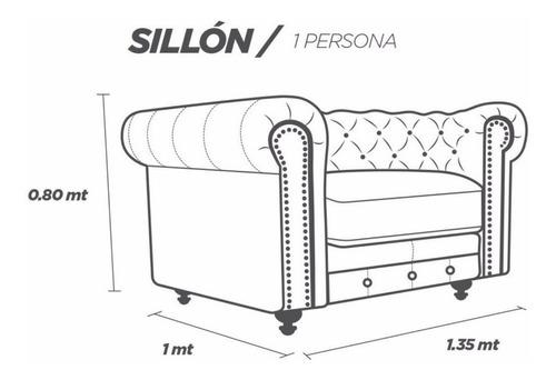 sillón de piel - chesterfield - contado conforto muebles