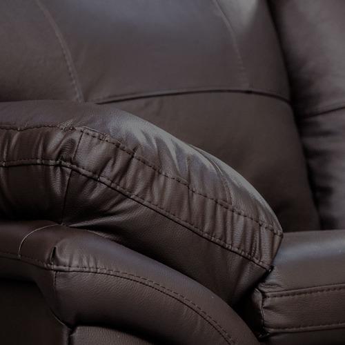 sillón de piel genuina - génova - conforto.mx