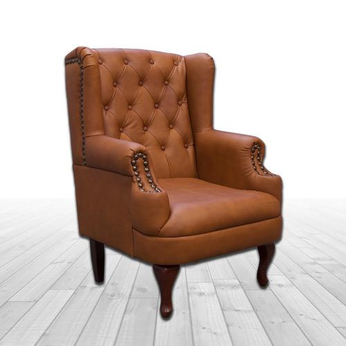 sillon de piel genuina - luton - conforto muebles