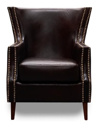 sillón de piel genuina  - pavaroti - conforto muebles