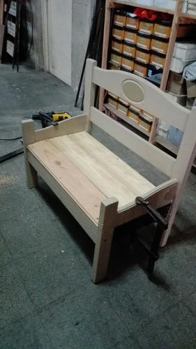 sillon de pino para chicos o para decorar